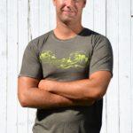 Lässiges Herren-Shirt mit Wellen-Print von Ostseekind