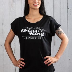 ostseekind damen shirt ostsee schwarz