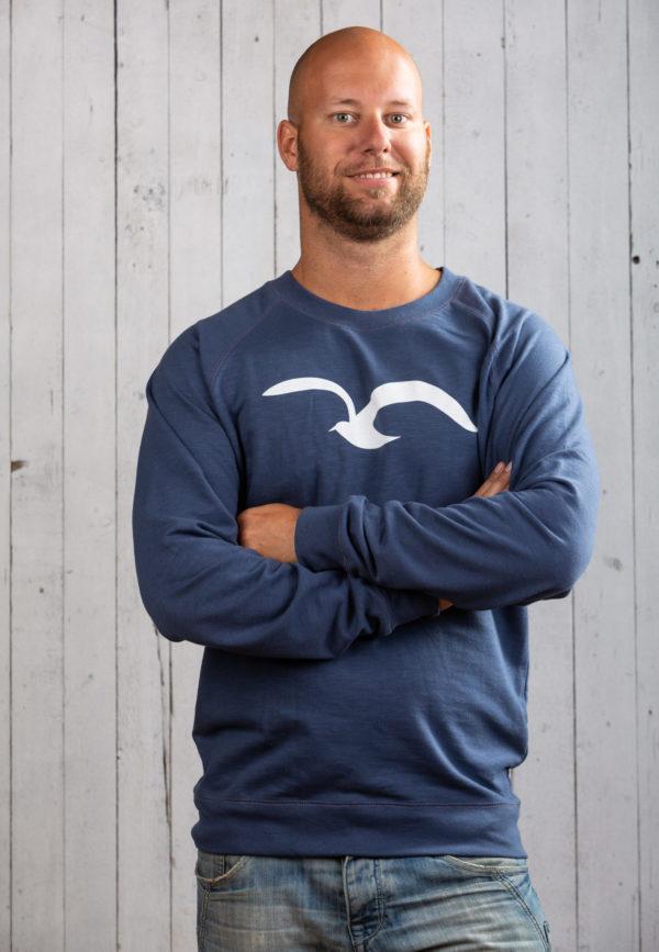 Sportlicher Ostsee-Pullover für Herren in Blau