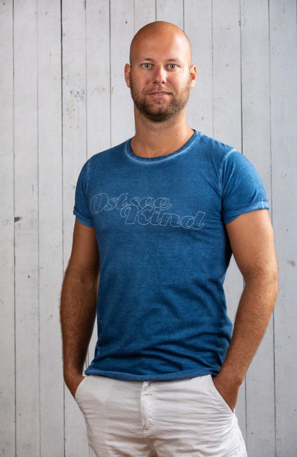 Herren Shirt Ostsee Blau