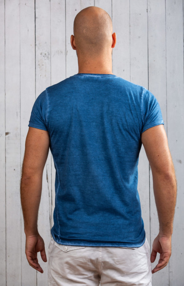 Trendiges Ostsee-Shirt für Herren in Blau