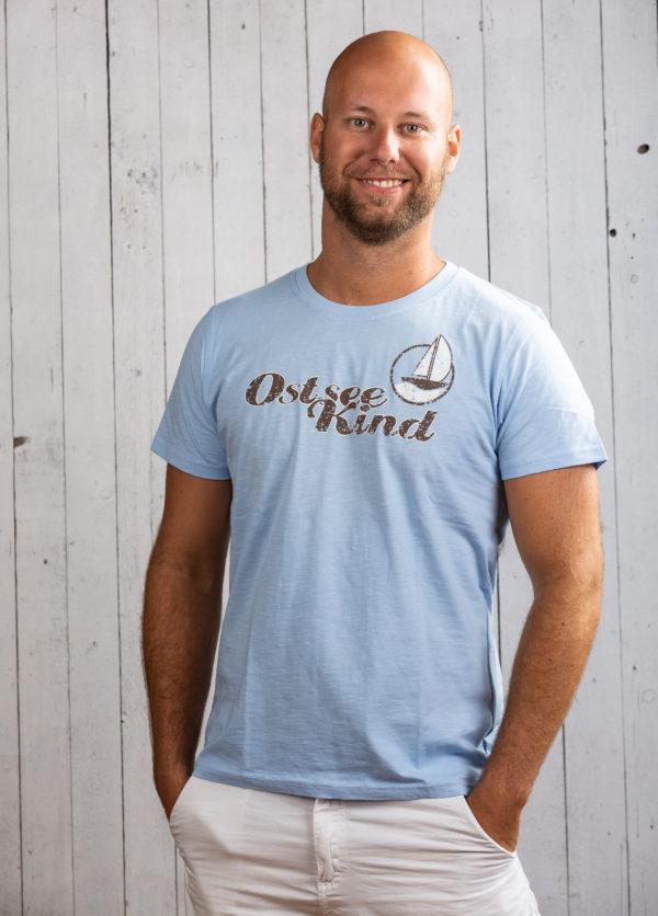 herren shirt segelboot print