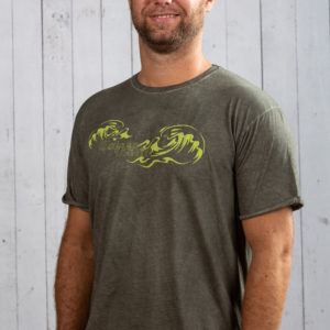 herren shirt wellen print