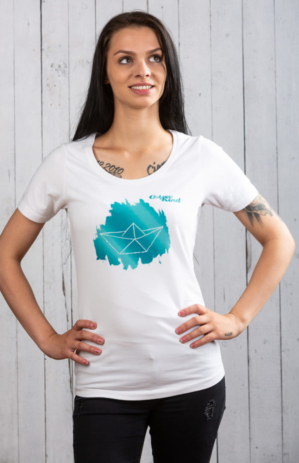 Damen Shirt Ostseekind Weiß