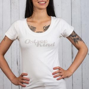 Romantisches Ostsee-Shirt für Damen in Melange von Ostseekind